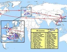 #1 cho Map of the cities and countries I have been to bởi Bradman87uk