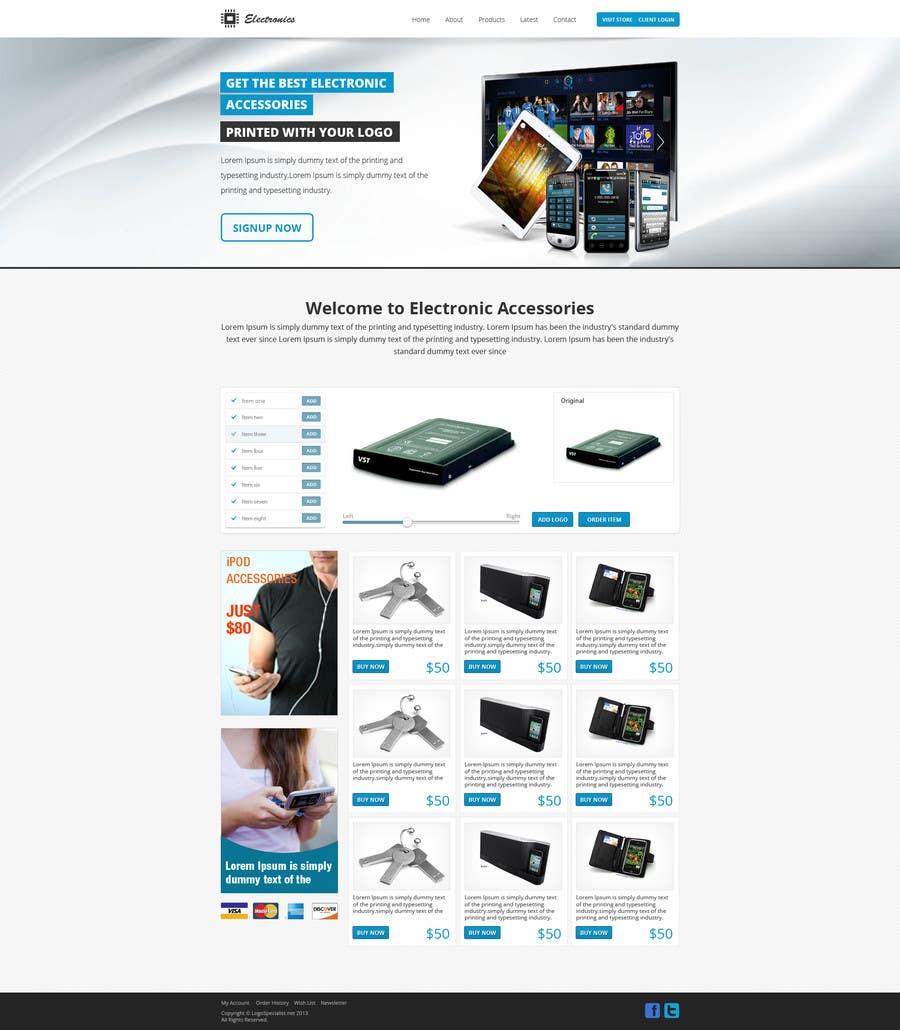 Inscrição nº 9 do Concurso para Build a Website for a electronic accessories and branding business