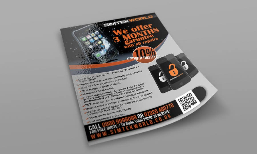 #12 for Good Design a Flyer for SimTek World Ltd by copestiuc
