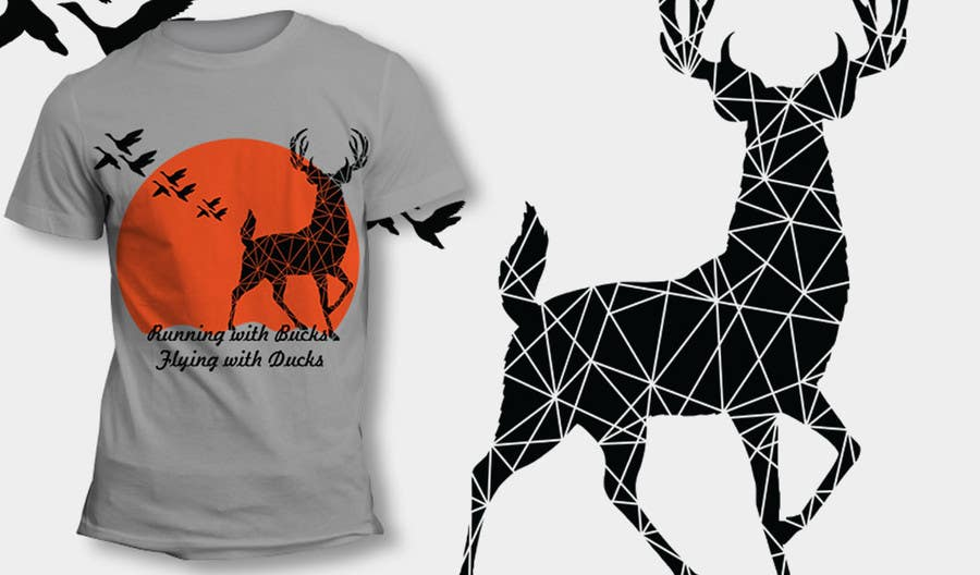 #35 for Design a deer and ducks t shirt Many more jobs to come this is a test to find our designer. Logo by theislanders