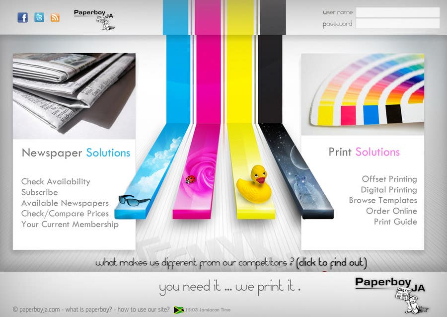 Konkurrenceindlæg #                                        61                                      for                                         Graphic Design for Paperboy JA