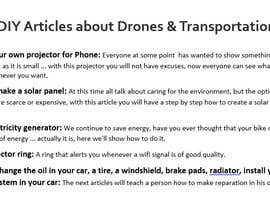 Duarias tarafından Write some How To DIY Articles about Drones & Transportation için no 9