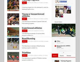 #2 cho Design a Website Mockup for Athletics Training Site - repost bởi backibreg
