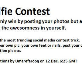 nº 15 pour Best Idea for Facebook Contest for $100 Weekly Prize par umarefarooq