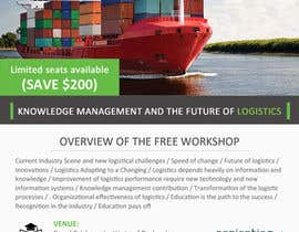 #20 for Design a Flyer for a Logistics Workshop af mydZnecoz
