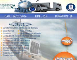 #8 untuk Design a Flyer for a Logistics Workshop oleh Kanchana9