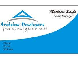 #12 untuk Design some Business Cards for Archview Developers oleh inoka74