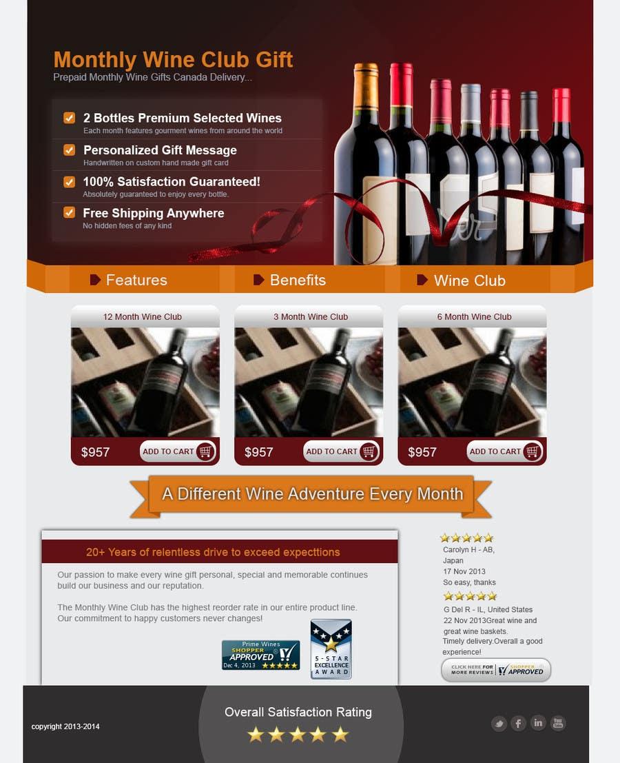 Bài tham dự cuộc thi #12 cho Design an Advertisement for Monthly Wine Club