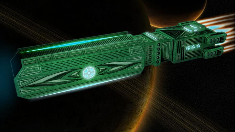Bài tham dự cuộc thi #                                        7                                      cho                                         Concept Art for existing 3D space ship model for SciFi Game