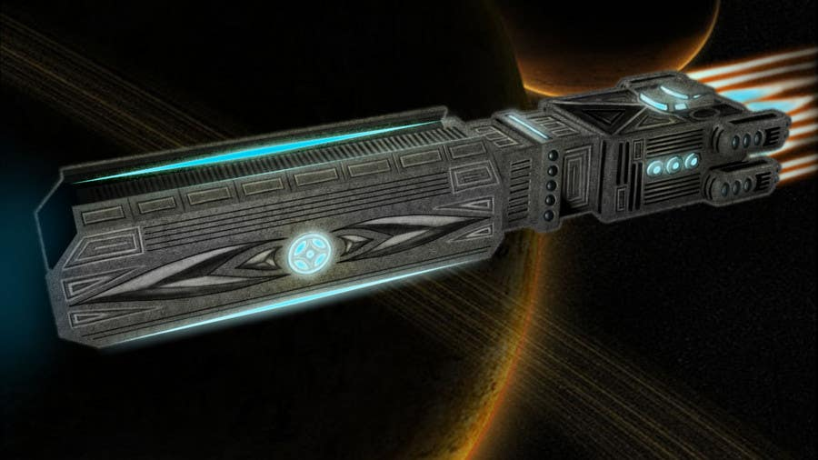 Inscrição nº 10 do Concurso para Concept Art for existing 3D space ship model for SciFi Game