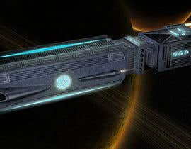 #13 for Concept Art for existing 3D space ship model for SciFi Game by yolid