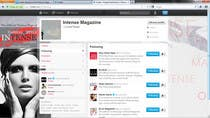 Graphic Design Kilpailutyö #86 kilpailuun Twitter Background for Intense Magazine