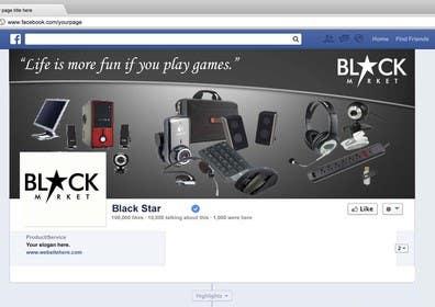 RScreative1 tarafından BlackStar.Market Facebook logo + cover için no 18