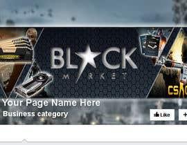 anastradi tarafından BlackStar.Market Facebook logo + cover için no 10