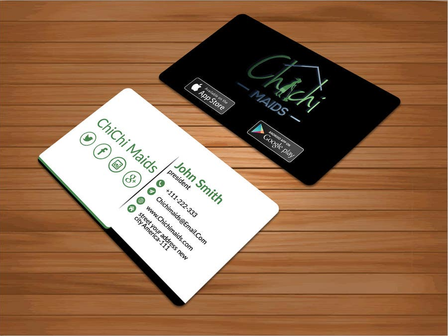 Entry 23 by bakhtear05 for design modern business card with social contest entry 23 for design modern business card with social media icons and available to reheart