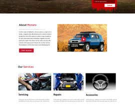 Nro 34 kilpailuun Home page and one sub page designed in PSD for Four Wheel Drive Mechanic Workshop käyttäjältä Ganeshdas