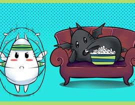 Nro 17 kilpailuun Illustrate Noir Blanc - the two little creatures -- 2 käyttäjältä willyborden33