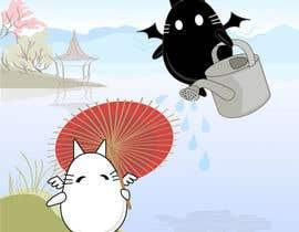 Nro 14 kilpailuun Illustrate Noir Blanc - the two little creatures -- 2 käyttäjältä AndreyGaman