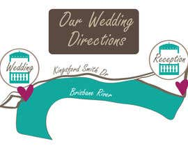 nº 2 pour We need a map for our wedding invitation! par mzburke313