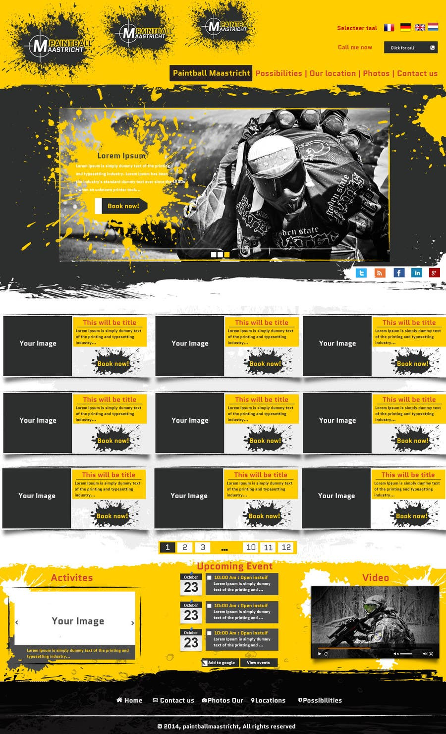 #34 for Build a Website for paintballmaastricht.nl (CMS+Design) by codeunderground