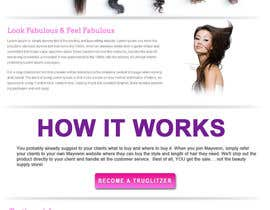 nº 9 pour Design a Website Mockup for Hair Extension business par webidea12