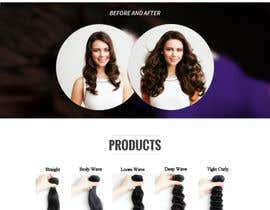 nº 11 pour Design a Website Mockup for Hair Extension business par cvillar