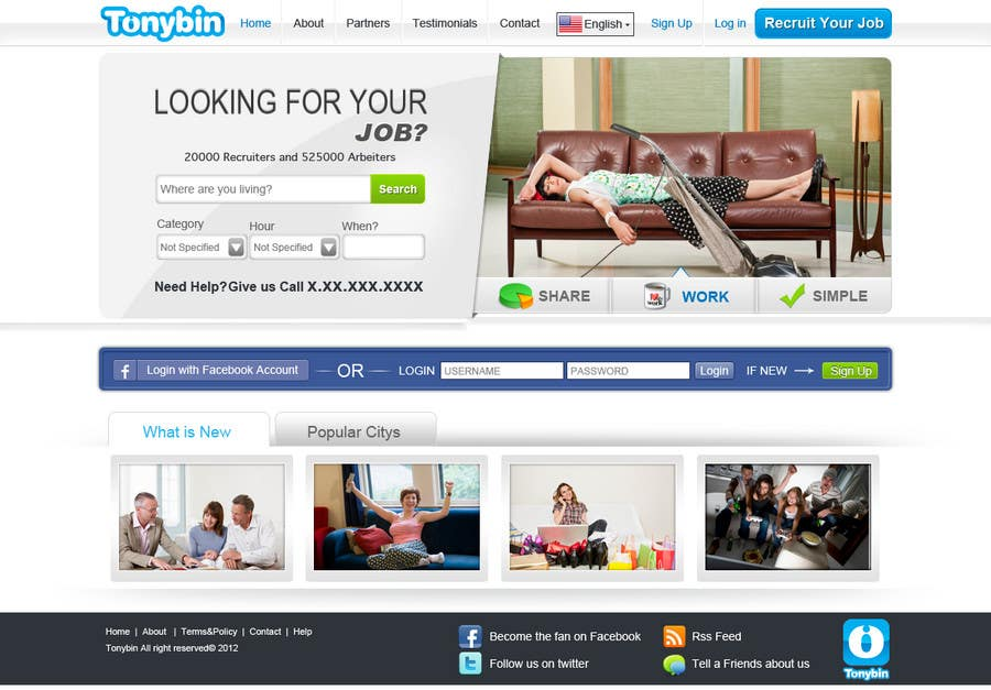 #49 for Website Design for Tonybin (simple and cool designs wanted) by kosmografic