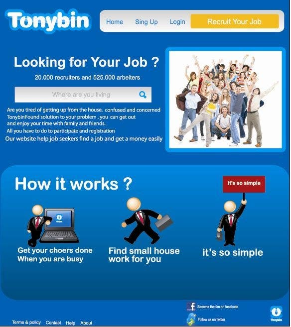Proposition n°                                        159                                      du concours                                         Website Design for Tonybin (simple and cool designs wanted)