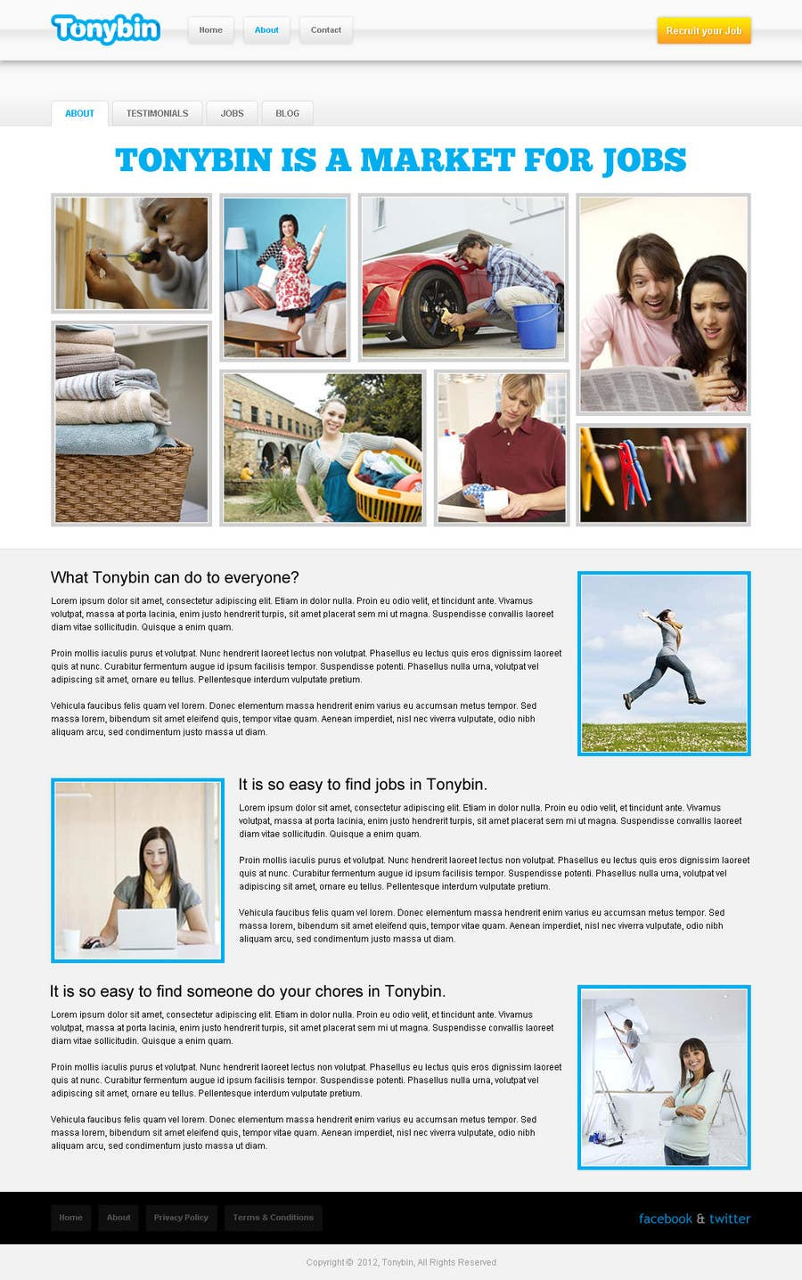 Proposition n°                                        142                                      du concours                                         Website Design for Tonybin (simple and cool designs wanted)