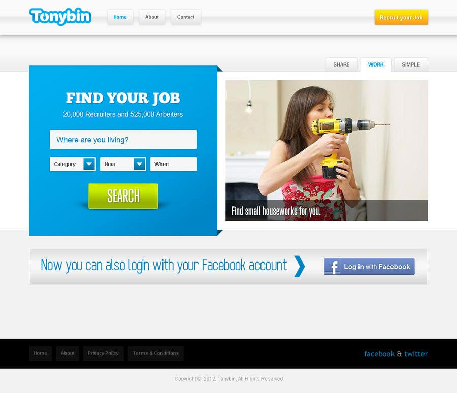 Proposition n°                                        141                                      du concours                                         Website Design for Tonybin (simple and cool designs wanted)