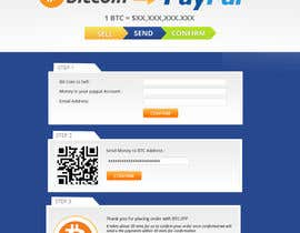 nº 9 pour Design a Website Mockup for BitCoin Website (One Page) par MagicalDesigner