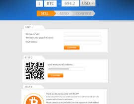 #15 for Design a Website Mockup for BitCoin Website (One Page) by MagicalDesigner