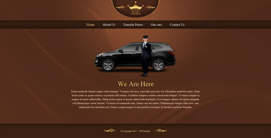 Proposition n°31 du concours Design a Website Mockup for VIP Taxi Transfers