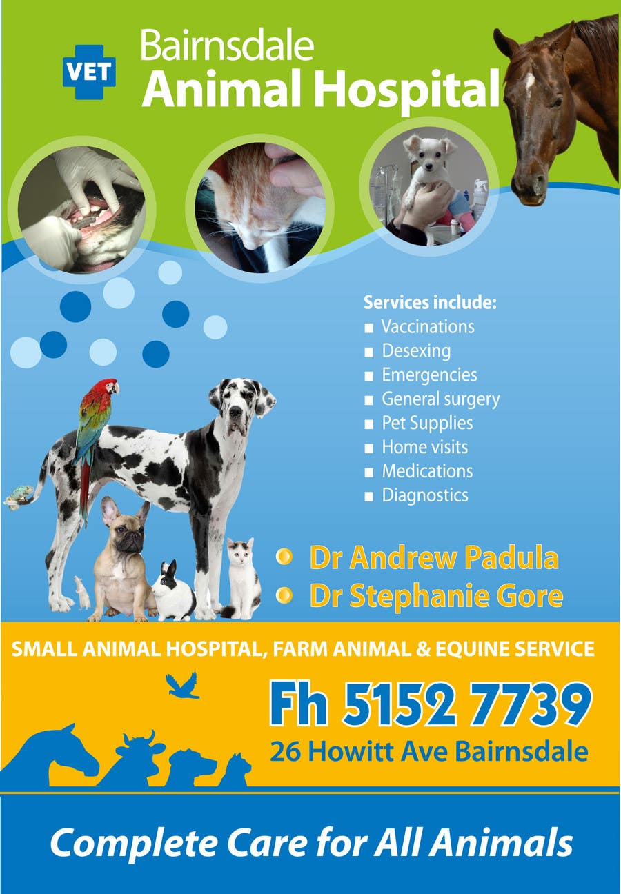 Contest Entry #28 for Graphic Design for Bairnsdale Animal Hospital