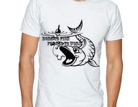 "izzeddine tarafından Design a ""born to fish"" fishing T-Shirt için no 32"