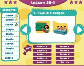 #3 cho Design cartoon UI for learning app (single frame) bởi patlau
