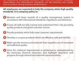 #11 untuk Design a Flyer for a Quality Policy Document oleh paulvoinese