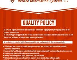 #66 untuk Design a Flyer for a Quality Policy Document oleh sanpatel