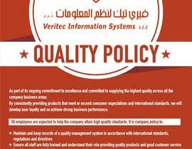 #83 for Design a Flyer for a Quality Policy Document by sanpatel