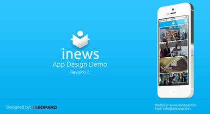 #15 for Design the User interface for a Mobile News App by eleopardstudios