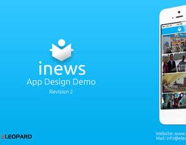 #15 for Design the User interface for a Mobile News App af eleopardstudios