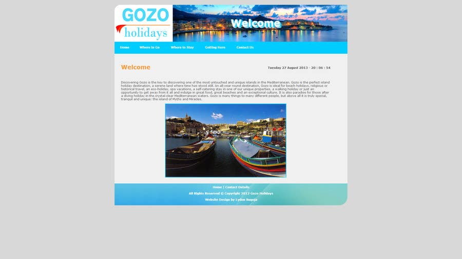 #6 for Build Website Layout Pages in HTML, Logo & Images by LydonBugeja