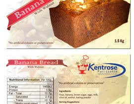 #42 для Banana bread packaging label design от wishvanath
