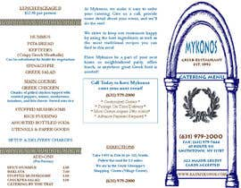#10 untuk Design a Catering Menu for Mykonos Greek Restaurant oleh designcat23