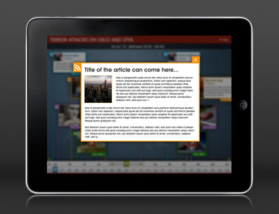 #15 for App Design: Visual timeline for mobile devices by redhatmac