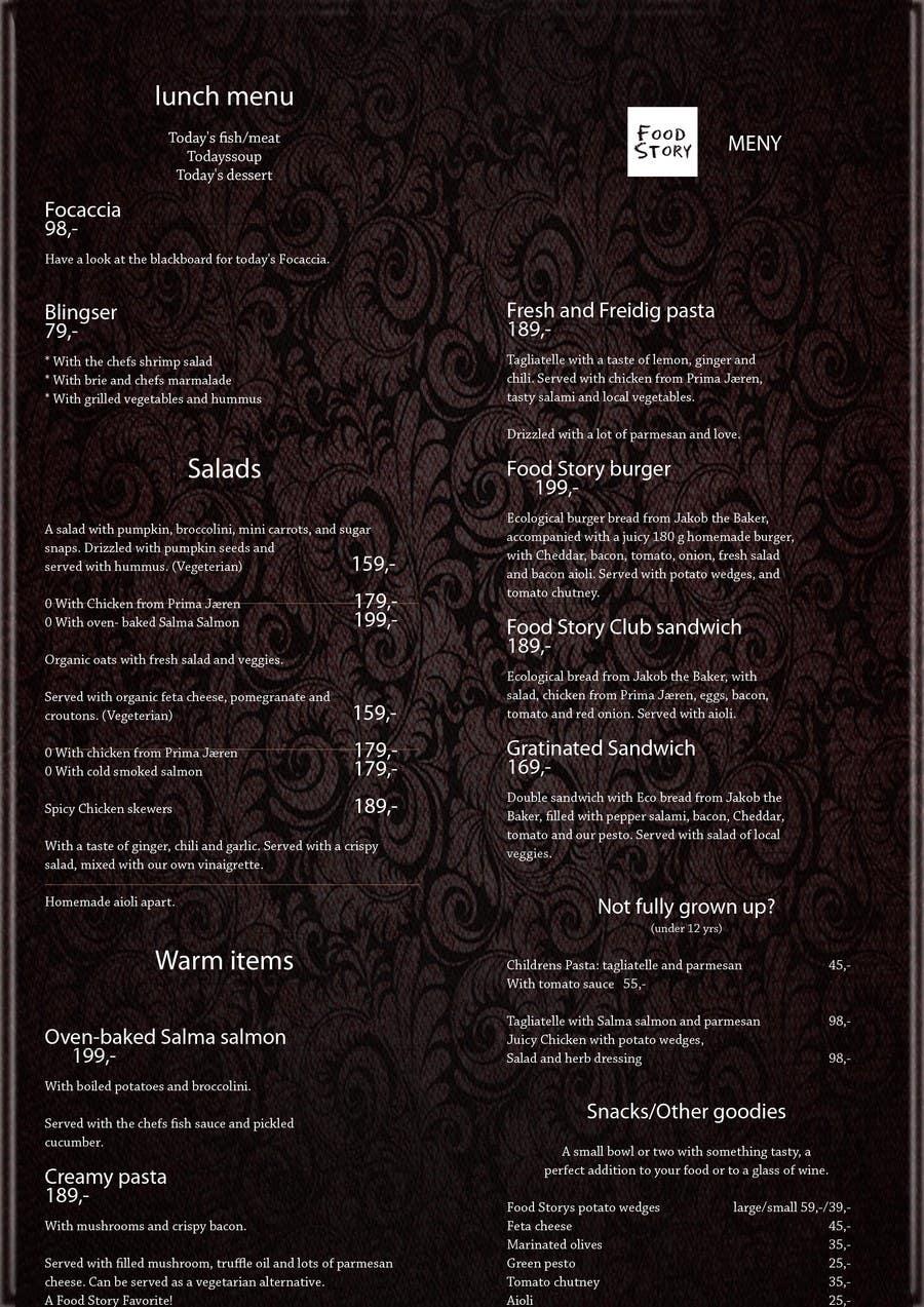 Bài tham dự cuộc thi #                                        37                                      cho                                         Create a background for a restaurant menu.