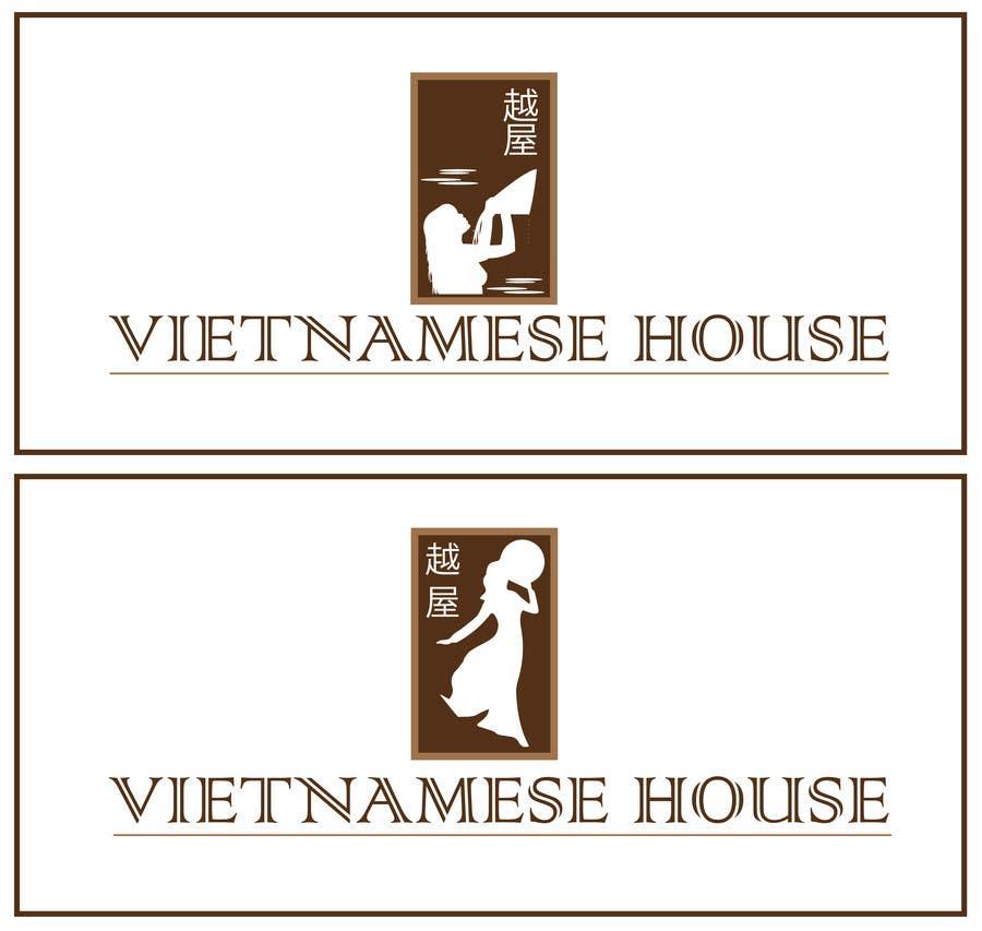 "Penyertaan Peraduan #                                        85                                      untuk                                         Design a Logo for Vietnamese restaurant named ""越屋 Vietnamese House"""