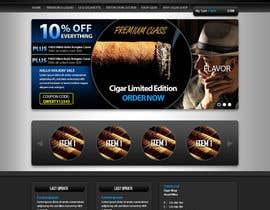 #15 for Need Design Mock Up for Cigar Shop af sanaqila