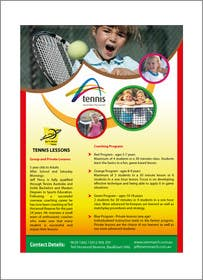 #19 para Design a Flyer for Tennis Coaching por pvcomp