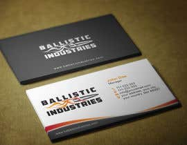 nº 47 pour Business Cards for a Firearms Business - Ballistic Industries par HammyHS